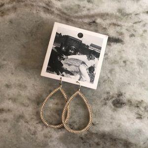 Anthropologie sparkly diamond dangle earrings NWT